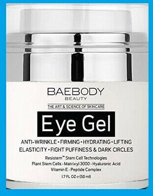 Baebody Eye Gel for Appearance of Dark Circles Puffiness Wrinkles,Bags  1.7 oz