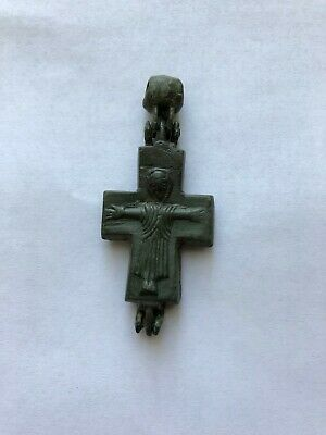 Ancient Byzantine Bronze reliquary Cross c.9th-11th
