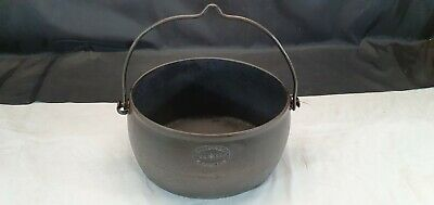 Vintage maybe Antique Heldon & Co Large 3 Gallon Cast Iron Cooking Pot Pan