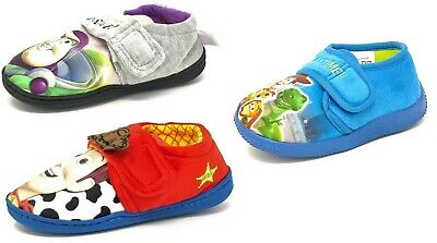 Kids/Childrens Boys Girls Toy Story Buzz Woody Slippers Booties Mules Size 6-12