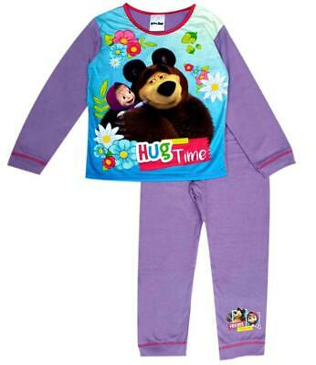 Girls Children Baby Toddler Masha and the Bear Long Pyjamas Pjs set Age 1-5 yrs