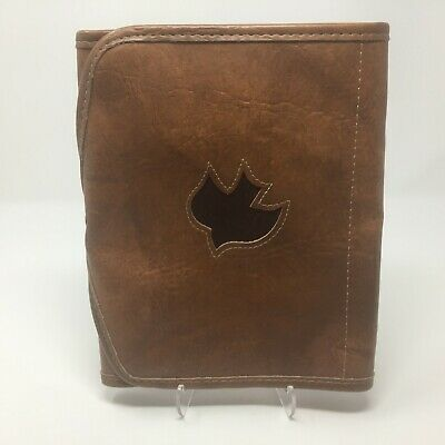 Design by Gregg Brown Faux Leather Bible Cover Case Tri-Fold w/ Dove Size Large