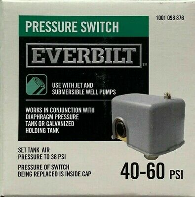 Everbilt 40-60 PSI Pressure Switch for Jet & Submersible Well Pumps