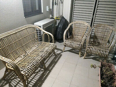 Eden Garden Outdoor Furniture Set - one 2 seater & two 1 seaters