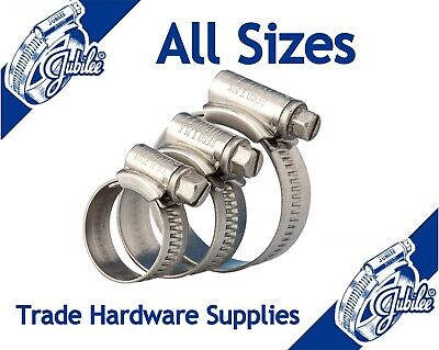 JUBILEE® Hose Clips Clamps (Worm Drive) -  Mild Steel Zinc Protected