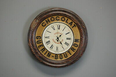Antique French Chocolat Advertising Clock Antique kitchen
