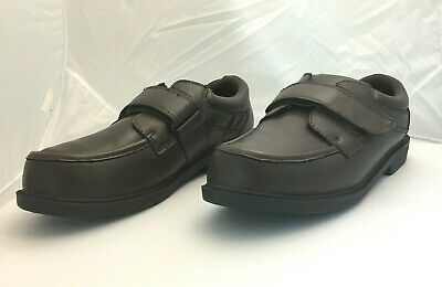 NEW DR SCHOLLS MENS Sz 10.5 w 3E Diabetic Orthopedic Oxford Brown Leather Shoes