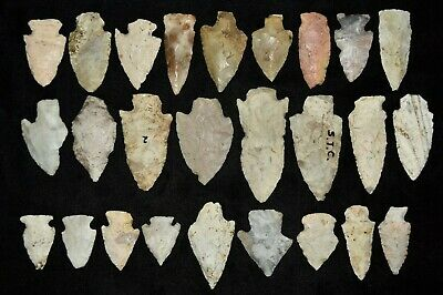 Lot of 26 Points, Found in St Louis County, Missouri Authentic Arrowheads D5