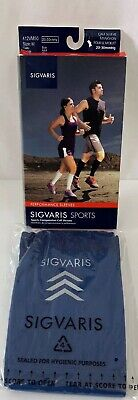 Sigvaris Compression Calf Sleeves Medium 20-30 mmHg Blue