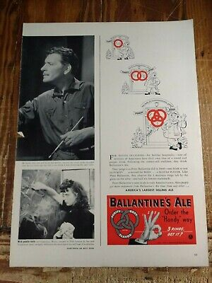 Purity Body Flavor Three Rings Get It 1939 Ballantine's Ale 1/2 Pg Advertisement
