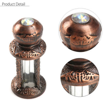 3ml Vintage Copper Empty Glass Dropper For Essential Oil Perfume Bottle Gift
