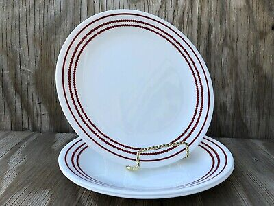 Corelle Dishes Vitrelle Ruby Red Large Dinner Plates Set Of 3