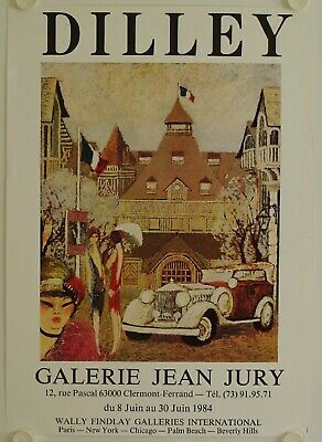 Affiche DILLEY 1984 Exposition Galerie Jean Jury - Clermont Ferrand