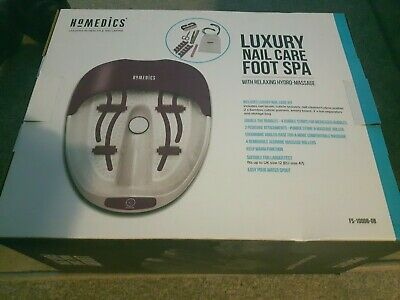 HoMedics Luxury Nail Care Footspa with luxury nail care kit