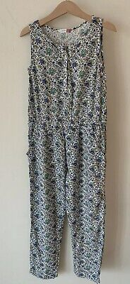 Girls John Lewis Age 7 Floral Blue Playsuit Long Jumpsuit Outfit