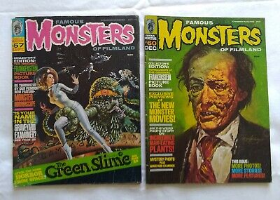 Famous Monsters of Filmland vintage Back Issues #57 & 60 1969