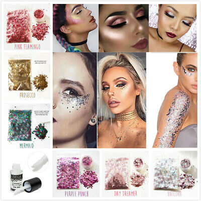 15 Colours Chunky Mixed Glitter Pot Nail Face Eye Body Festival Cosmetic Craft