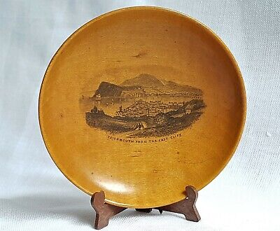 Mauchline Ware Pin Dish Teignmouth From The East Cliff Sailing Ships Harbour