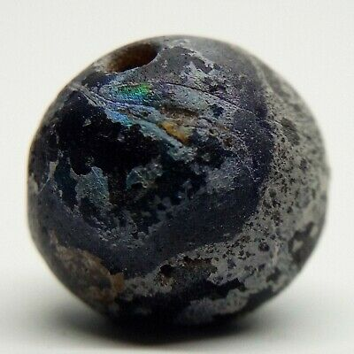 Bead Glass Eye Patina  / 600-100BC. Celtic / Bosporus / Scythian
