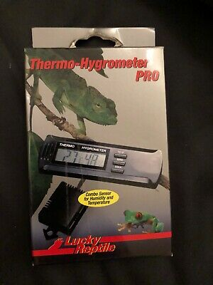 Lucky Reptile Thermometer-Hygrometer Pro | Slim Thermo-Hygrometer