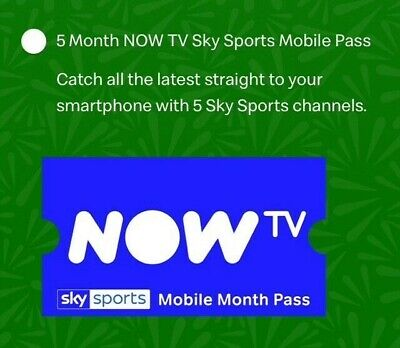 Now Tv Sky Sports 5 Months Mobile Pass