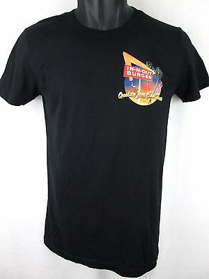 In N Out Burger Black T Shirt Womens Large L 100% Cotton Made in USA Drive Thru