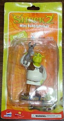 RARE SHREK & DONKEY ~SHREK 2~ Mini Bobblehead by Dreamworks ACME JEWEL