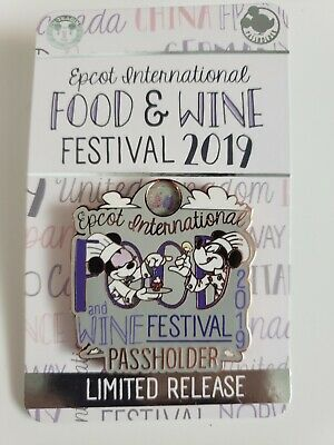 Disney Parks Epcot Food And Wine Festival 2019 Passholder EXCLUSIVE Pin