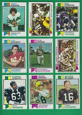 1973 Topps Football set lot of 385 diff cards Butkus Riggins Blanda Rookies