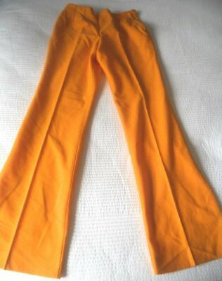 True Vintage 70'S Flares (Smaller Width) Pants Bright Golden Yellow Size 12
