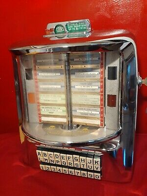 Seeburg WALLBOX Wall-O-Matic 200 Remote Jukebox 1950's GREEN BACK GROUND INSTRUC