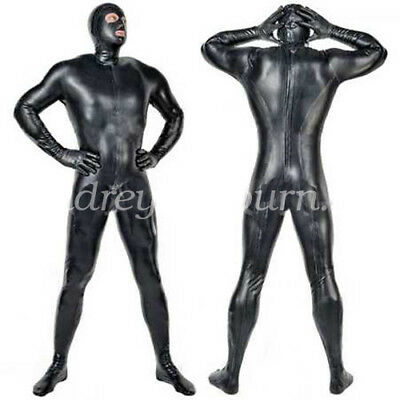 Latex Rubber Gummi Ganzanzug Bodysuit Tights Catsuit Kostüm Black Size XXS-XXL