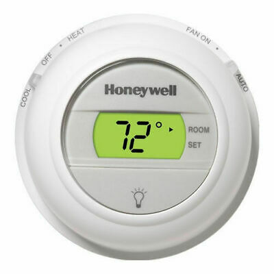 White Honeywell T8775C1005 Round Digital Non Programmable Thermostat Heat & Cool
