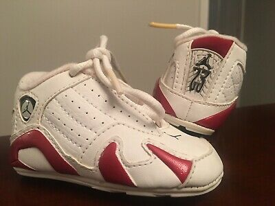 new product 62a23 09a95 INFANT/TODDLER JORDAN XIV 14 Retro Crib Shoes - Candy Cane - Size 2C