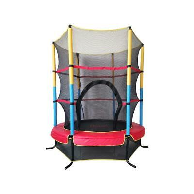 "55"" Mini Jumping Round Kids Trampoline with Safety Enclosure Pad Exercise Sports"