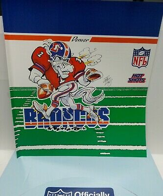 Denver Broncos NFL Hot Shots Book Cover Lot of 2 by Russ1988 New Free Shipping