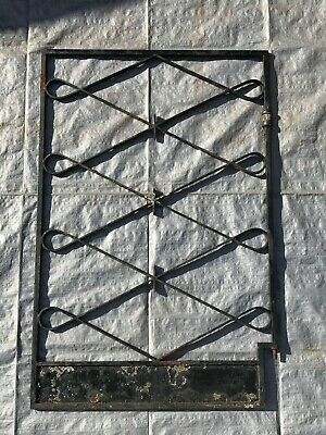 VINTAGE Steel Gate Black Wrought Iron Decorative House Single RETRO