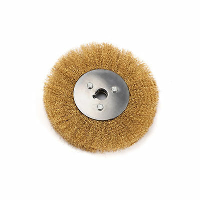 1Copper Wire Wheel Crimped Brass Flat Brush For Bench Grinders 16-125 Wire Wheel