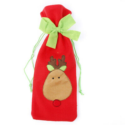 Elk Knot Bow Wine Bottle Cover Bag Christmas Home Party Dinner Table Decoration