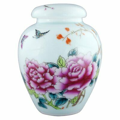 "6.5""Cremation Urn for Ashes Ceramic Hand-Decal Funeral Urn Human Burial Urn"