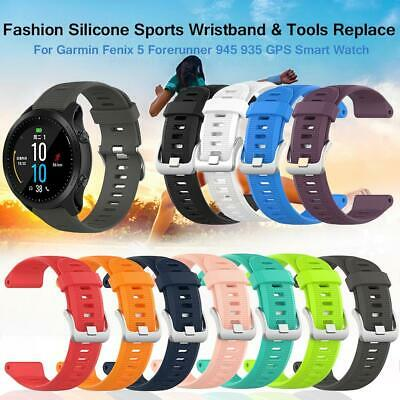 Silicone Sports Wristband Replace Watch Band Strap & Tools For Garmin Fenix 5