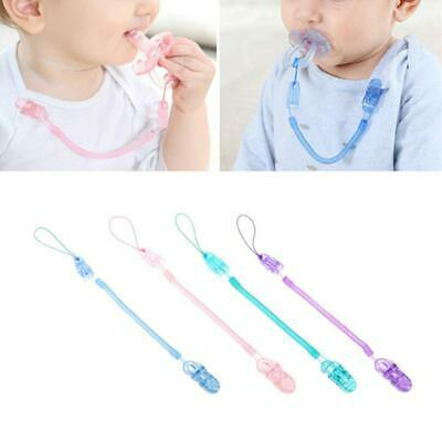 Baby Infant Spring Dummy Pacifier Soother Nipple Clip Chain Anti-lost Strap