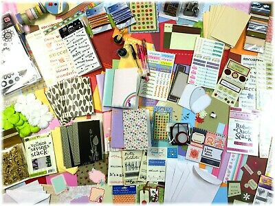 BULK 13 Packets Card Making Items Stamps Cards Papers Stickers Embellishments +