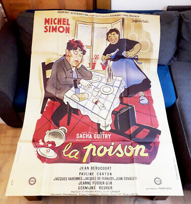 La poison (Retirage) - Sacha GUITRY / Michel SIMON - Affiche Cinéma
