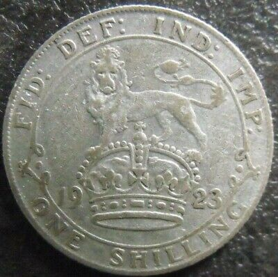 1923 GEORGE V SILVER SHILLING. Nice Grade Coin.                      148/
