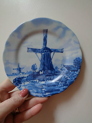 Hand decorated blue & white Plate TER STEEGE  BV DELFT Blauw Plate Holland