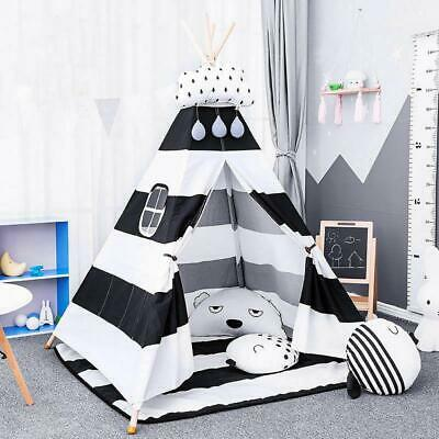 Large Canvas Children Indian Tent Teepee Wigwam Kids Play House 165cm Hight