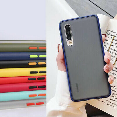 For Huawei P30 Mate 20 Pro Shockproof Hard Matte Frosted Transparent Case Cover