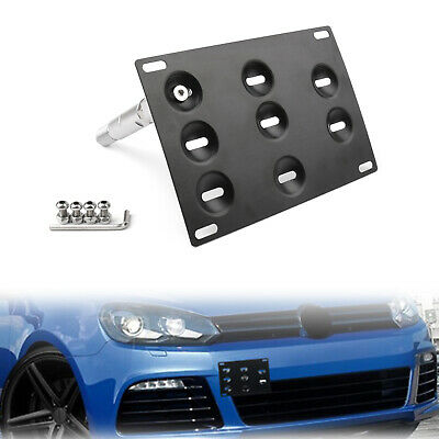 Front Bumper Tow Hook License Plate Mounting Holder Bracket For VW Golf 6 CA