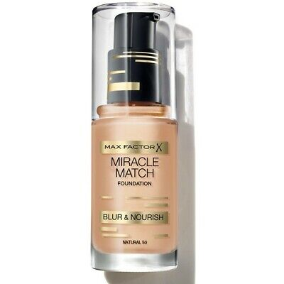 Max Factor Miracle Match Foundation Blur & Nourish  CHOOSE YOUR SHADE